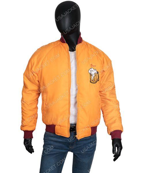 Home Alone Kenosha Kickers Yellow Satin Bomber Jacket