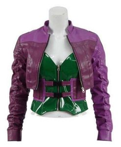 Injustice 2 Cropped Leather Jacket