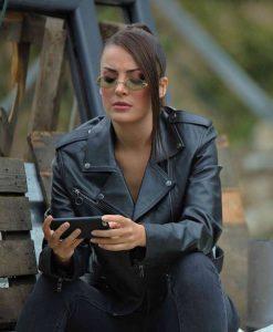 Çukur S04 Seren Erdenet Leather Jacket