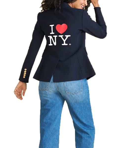 Jenna-Bush-Hager-Navy-Blue-I-Heart-NY-Blazer