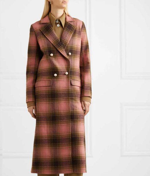 Katherine Ryan The Duchess Plaid Trench Coat