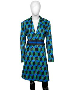 The Duchess Katherine Ryan Geometric Print Coat