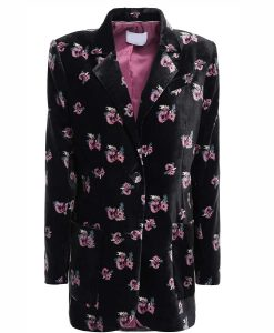 The Duchess Floral-Print Velvet Blazer