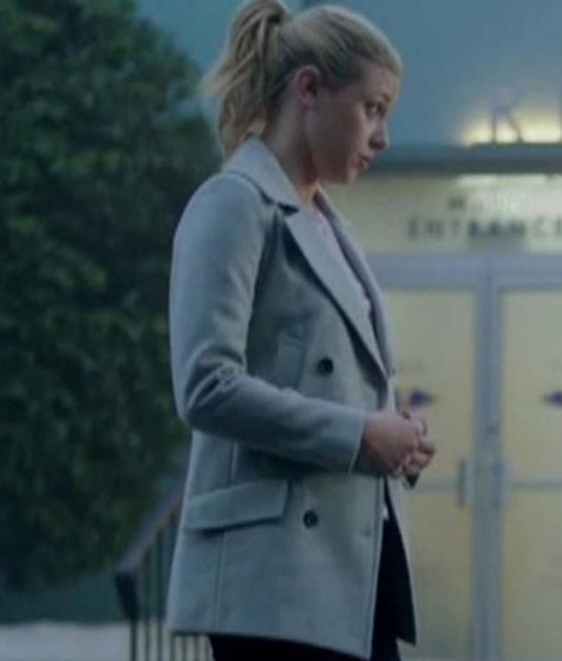 Riverdale Season 02 Betty Cooper Grey Double-Breasted Coat