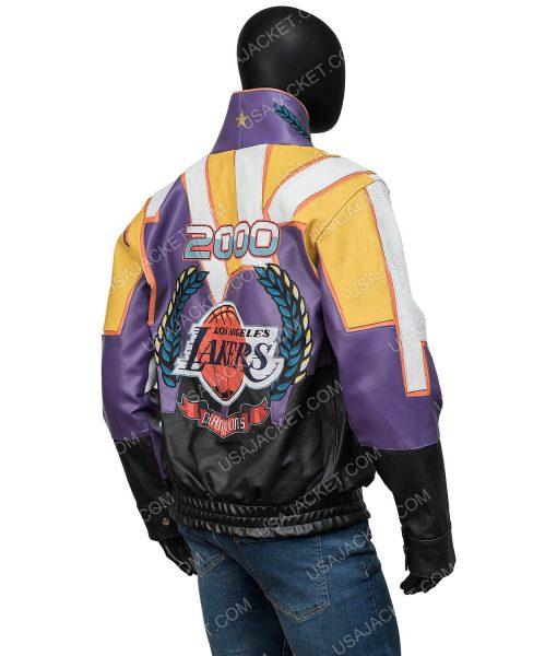 Los Angeles Jeff Hamilton Lakers Championship 2000 Leather Jacket