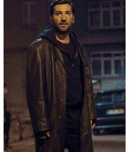 Mahsun Çukur Season 04 Berkay Ates Leather Coat