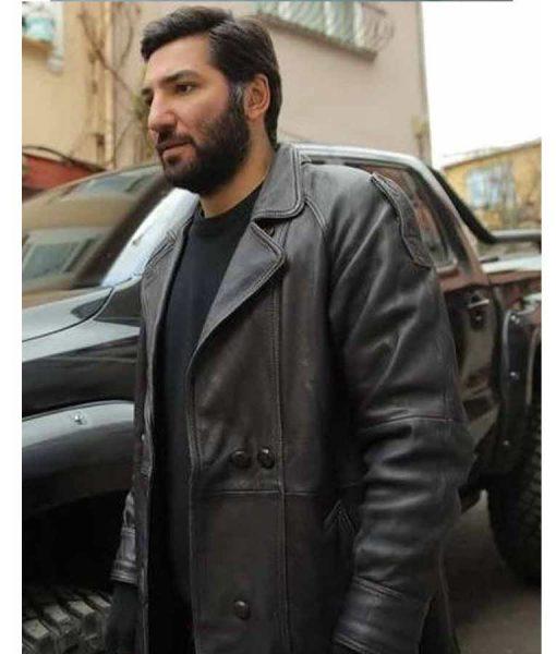 Çukur Season 04 Berkay Ates Black Leather Coat