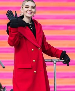 Meg Donnelly 100th Thanksgiving Day Coat