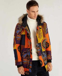 Men's Ethnic Hooded Coat