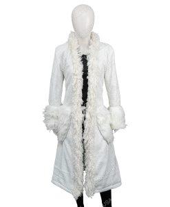 Mindy Chen Emily In Paris Ashley Park White Fur Coat