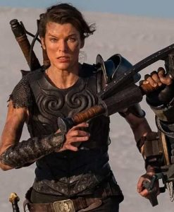 Monster Hunter Milla Jovovich Black Leather Vest