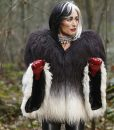 Cruella Deville White and Black Fur Jacket