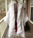 Once Upon a Time Cruella Deville White Fur Long Coat