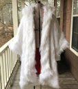 Once Upon a Time Cruella Deville White Fur Long Coat