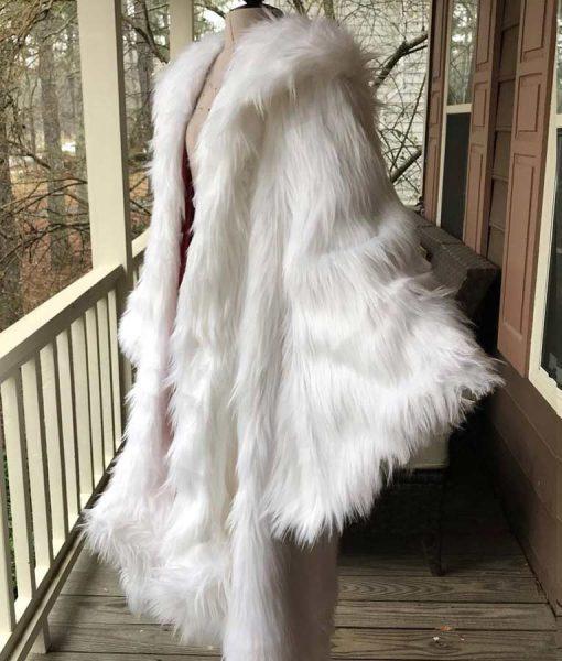 Once Upon a Time Cruella Deville White Faux Fur Coat