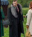 Pennyworth Season 02 Jason Flemyng Black Fur Collar Coat