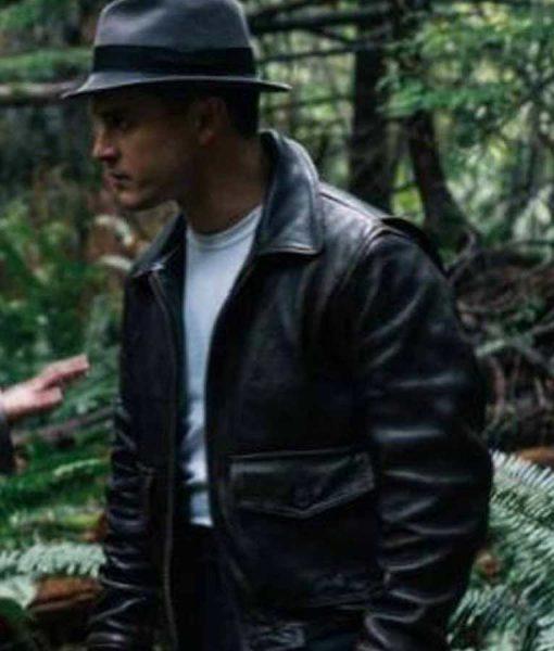 Project Blue Book S02 Michael Malarkey Black Leather Jacket
