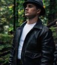 Captain Michael Quinn Project Blue Book S02 Black Leather jacket