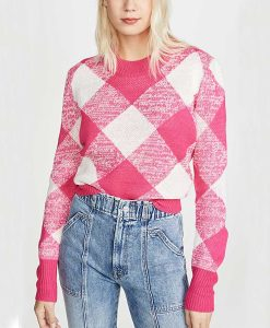 Riverdale S04 Betty Cooper Pink Check Knit Sweater