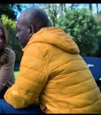 Save Me Lennie James Yellow Puffer Hooded Jacket