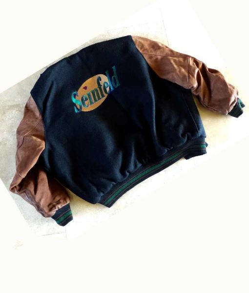 Seinfeld Bomber Jacket With Leather Sleeves