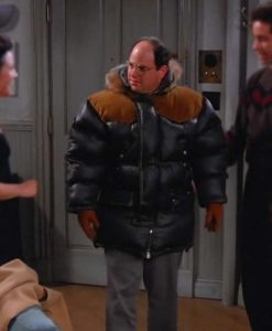 George Costanza Black PufferSeinfeld The Jacket With Hood