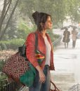 Selena Gomez A Rainy Day in New York Chan Bomber Jacket
