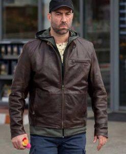 Umbre Season 03 Serban Pavlu brown Leather Jacket