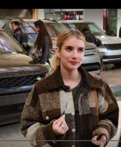 Sloane Holidate 2020 Emma Roberts Plaid Jacket