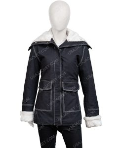 Sloane2020 Holidate Black Jacket With Shearling Trim