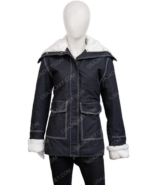 Sloane2020 Holidate Black Jacket With Shearling Trim