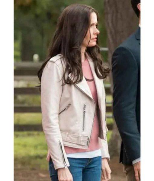 Superman And Lois Elizabeth Tulloch Moto Leather Jacket