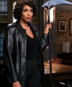 Supernatural Season 15 Lisa Berry Black Leather Coat