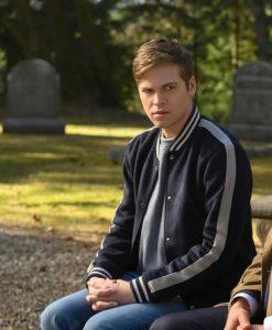 Supernatural season 15 Alexander Calvert Varsity Jacket