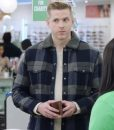 Superstore S05 Spencer Ralston Plaid Jacket With Grey Shearling Collar