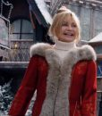 Goldie HawnThe Christmas Chronicles 2 Mrs. Claus Red LongCoat