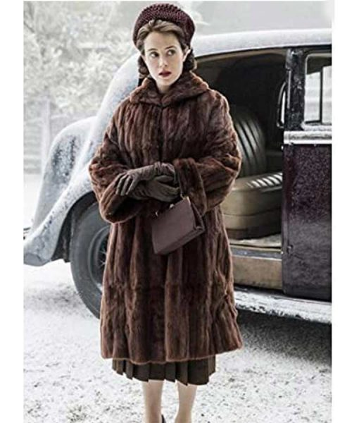 The Crown Claire Foy Shearling Coat
