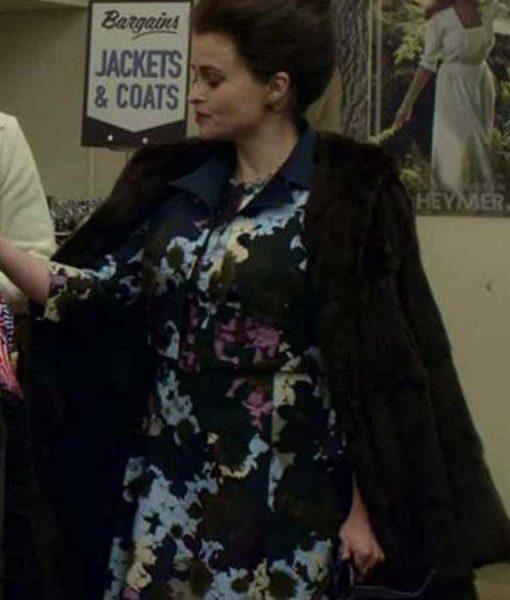 The Crown S04 Helena Bonham Carter Shearling Coat
