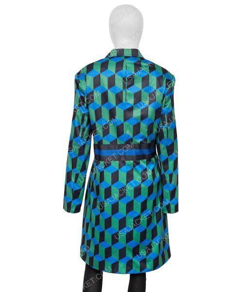 Katherine Ryan The Duchess Checkered Long Coat