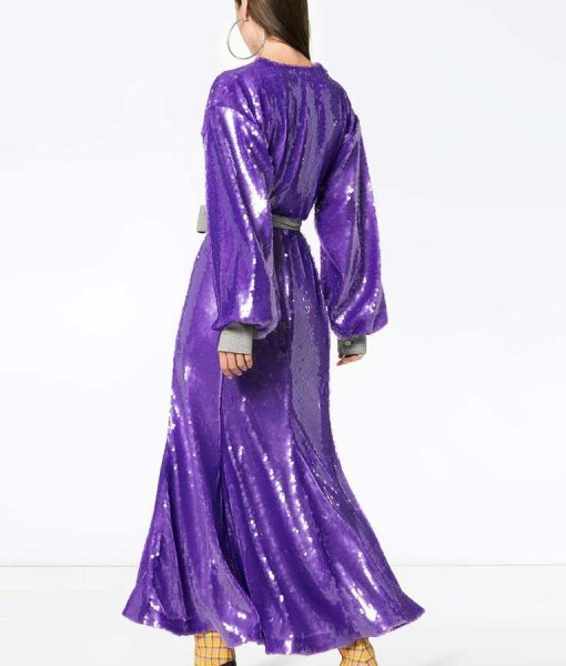 The Duchess Sequin Wrap Gown