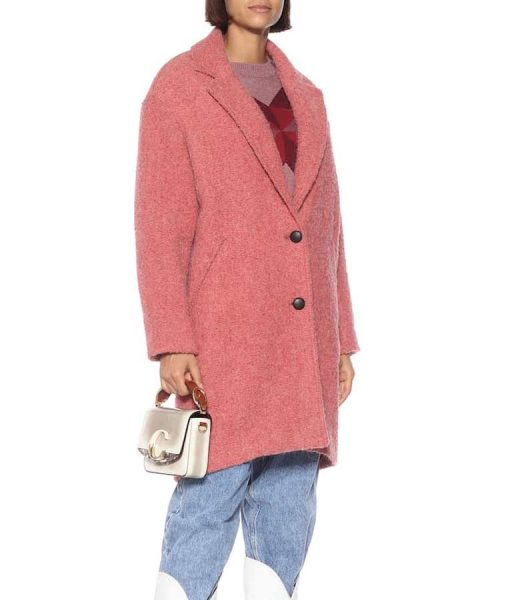 The Flight Attendant Cassie Pink Trench Coat