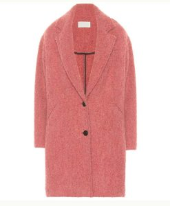 The Flight Attendant Cassie Pink Oversize Coat