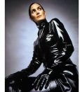Carrie-Anne Moss The Matrix 4 Trinity Black Leather Trench Coat