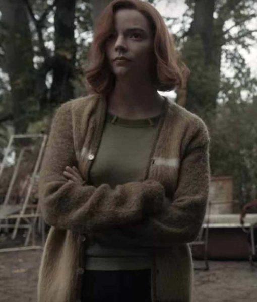 The Queen's Gambit Beth Harmon Brown Sweater