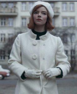 The Queen's Gambit Beth Harmon White Coat