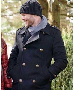 The Santa Squad Aaron Ashmore Double-Breasted Coat