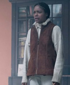 Naomie Harris Suede Leather The Third Day Helen Vest