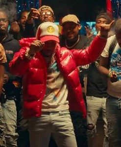 Tory Lanez Music Video Most High Red Puffer Jacket With Hood