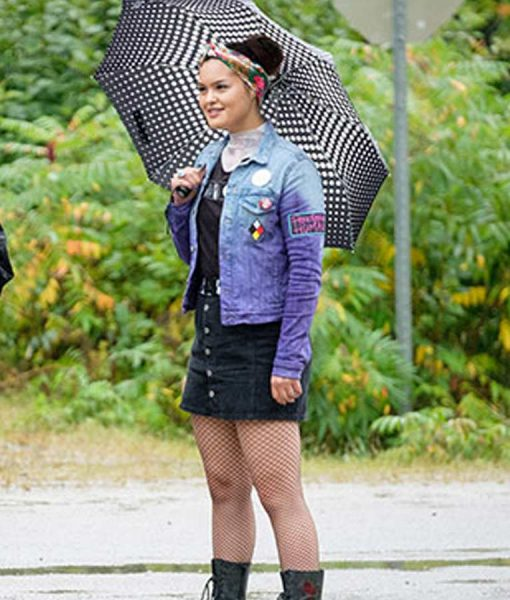 Trickster Anna Lambe Denim Jacket With Patches