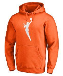 NBA WNBA Logo Orange Hoodie